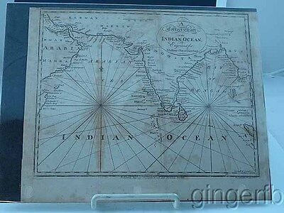 Original Engraved Map of Indian Ocean By Spotwood & Nancrede C 1797