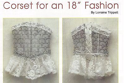 """18""""antique French Fashion/china Head/parian Lady Doll Corset Pattern"""