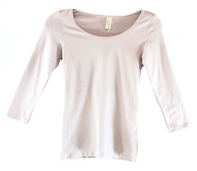 Frenchi NEW Solid Purple Heaven Size Medium M Long-Sleeve Tee T-Shirt DEAL