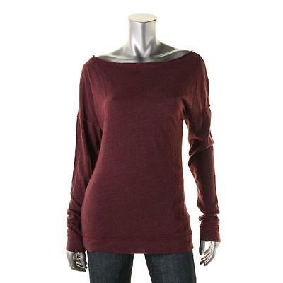 Pure Karma 0362 Womens Divine Red Jersey Boatneck Pullover Top Shirt M BHFO