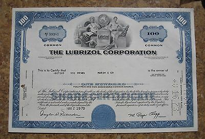 The Lubrizol Corporation Stores Common Stock Share Certificate State of Ohio
