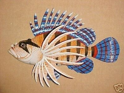 "6"" LIONFISH Wall Decor Bath Beach Tropical Fish Office Aquatic Ocean Nautical"