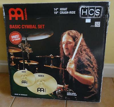 "Meinl HCS1418+14C Basic Cymbal Set 14"" HiHat 18"" Crash-Ride +Bonus 14"" Crash!"