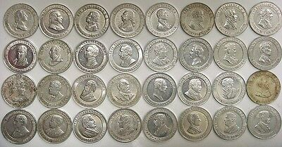 Complete Set of 32 President Cracker Jack Mystery Club Coins