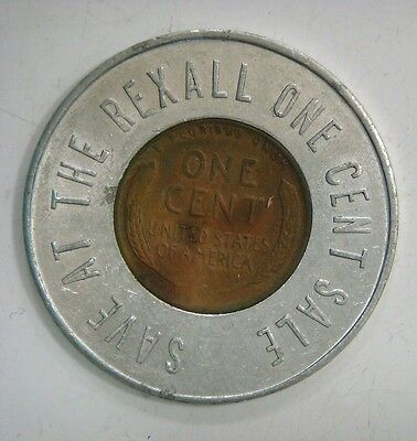 1953 D encased cent - Save at the Rexall one cent sale