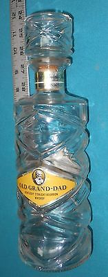 #a Old Grand Dad - Barware - Glass Decanter - Empty Bottle w/ Glass Stopper