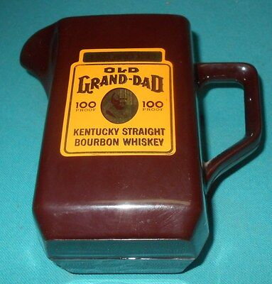 Old Grand Dad - Barware - Water Pitcher - Brown Plastic - Bonded - 100 Proof