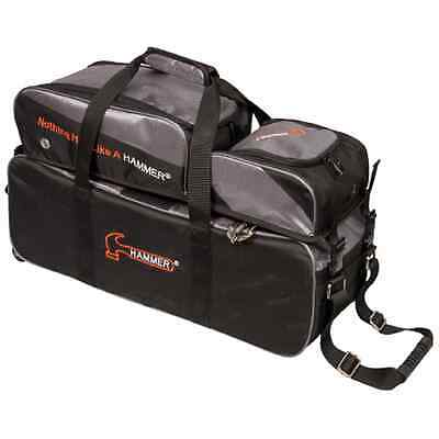 Hammer 3 Ball Tote Bowling Bag with shoe pocket Black/Carbon