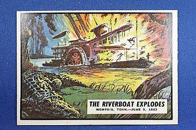 1962 Topps Civil War News - #45 The Riverboat Explodes - Ex/Mt-NrMt Condition