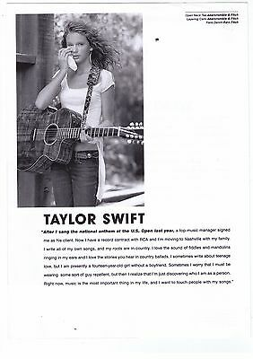 Taylor Swift 'Abercrombie & Fitch' Rising Stars Print Advertisement