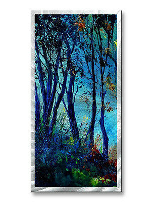 Landscape Painting on Metal Art by Pol Ledent Abstract Wall Sculpture 'Lost Way'