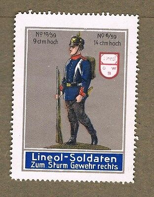 Ww1 Toy Soldier Rifle Germany Poster Stamp Lot 100