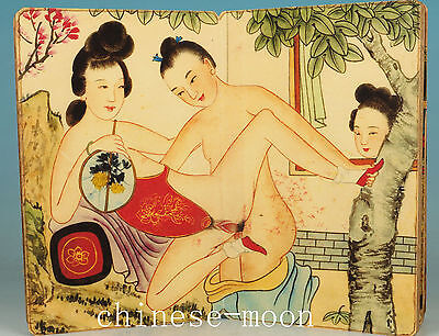 Chinese Old paper printing Painting Ancient Married Belle book art Ornament
