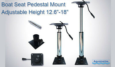 "Boat Seat Pedestal Mount Adjustable Height  12 "" to 18 Inches"
