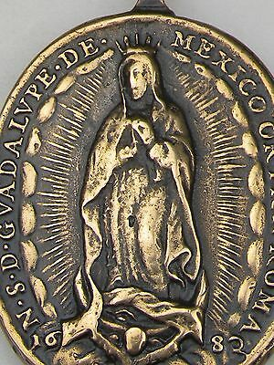 Antique 1682 DATED Catholic St. Michael & O. L. of Guadalupe Shrine Medal