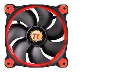 3x Thermaltake Ring 14 Led 140mm Case Cooling Fan High Static Pressure 14CM Red