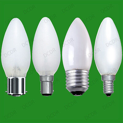 4x Opal/pearl Candle Dimmable Standard Light Bulb 25W 40W 60W BC ES SBC SES Lamp