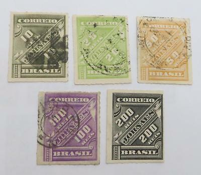 Brazil 1889 - 90 small collection Newspaper stamps most used