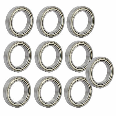 6805ZZ Steel Shielded Deep Groove Ball Bearings Silver Tone 37mmx25mmx7mm 10pcs