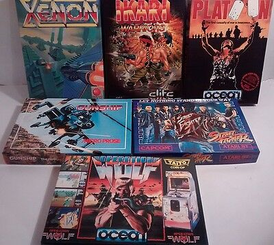 Vintage Lot of 6 Empty Box Cases & Instructions for Atari Games #1