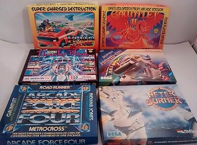Vintage Lot of 6 Empty Box Cases & Instructions for Atari Games #2