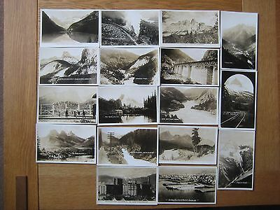 1930`s RP`s of BRITISH COLUMBIA..BANFF..FIELD..VANCOUVER..PACIFIC RAILWAY,CANADA