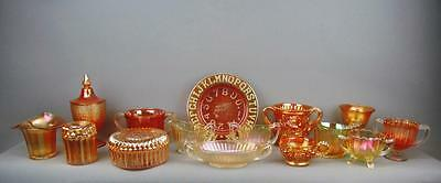 CARNIVAL GLASS LOT - 15 Pieces Jeanette Dugan Fenton Imperial Westmoreland