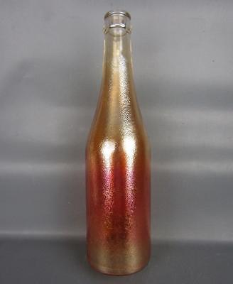 "CARNIVAL GLASS - CANADA DRY ""Ginger Ale"" SODA BOTTLE"