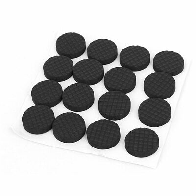 Table Legs Self Adhesive Round Shape Furniture Protection Pads 18mm Dia 16pcs