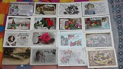 a collection/joblot/bulk lot of 98 of old birthday postcards all seen in pics