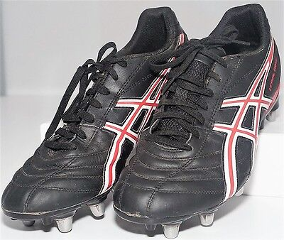 Mens Asics Lethal Drive Black Rugby Boots - Size 9 Uk