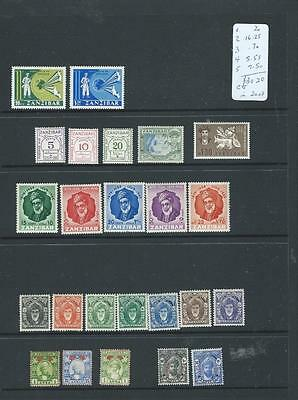 Zanzibar lot 1, nice sets LHM stamps as scanned CV 30GBP in 2008[176]