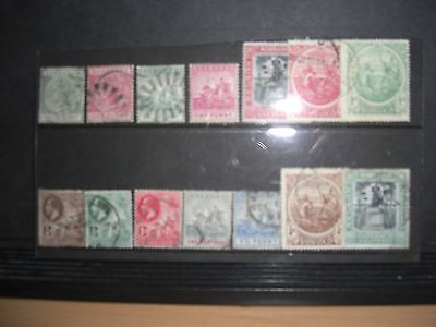 A Selection Of Early Used Barbados Stamps