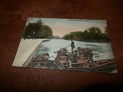 1906 Fr Postcard  - The promenade Bedford - Bedfordshire - row boats
