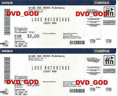 2 Tickets Karten LUKE MOCKRIDGE Oldenburg 17.09.2017 NEUES PROGRAMM LUCKY MAN