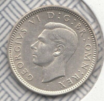 """1938 George Vi Silver Sixpence """"unc"""" S4084 Esc 1828 Scarce .500 Sterling Silver"""