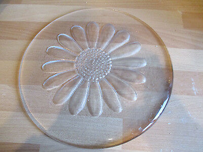 Dartington Crystal Daisy Cheese  Platter Designed By F Thrower