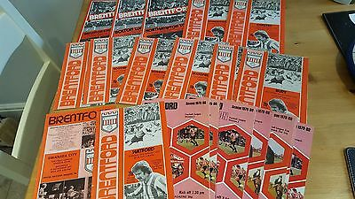 Collection 1970's Brentford FC Home Programmes x 23