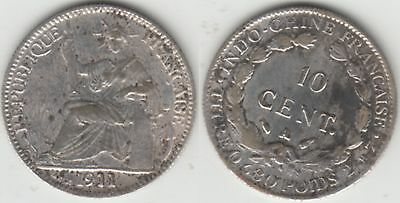 10 cent Indochina 1911 Frankreich France French Asien Asia Laos Cambodia Vietnam