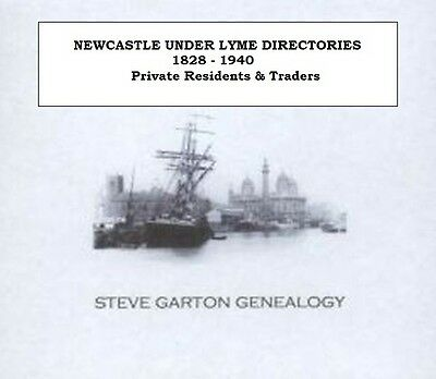 Newcastle Under Lyme Directories - Kellys, Whites & Pigots - Genealogy Cd