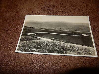 Early Tatters Real Photo Postcard -The curve Hartside - Cumbria - old car
