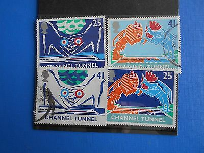 1994 channel tunnel stamps used