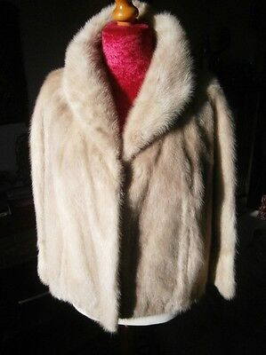 Stunning vtg PALOMINO mink fur bolero jacket, side splits & gathered cuffs MINT!