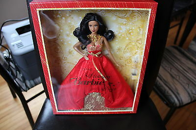 2014*HOLIDAY BARBIE*NOEL*BDH14*African American*Canadian/Bilingual EDITION*MINT*