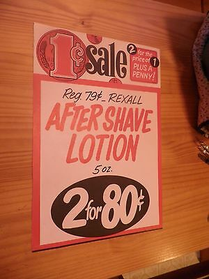 Vintage Rexall After shave Lotion AD/SIGN