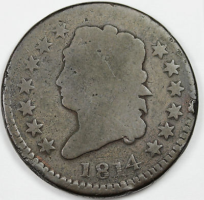 1814  Large Cent.  Good.