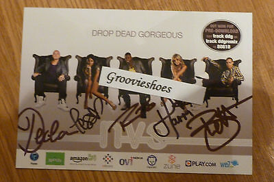NVS Hand Signed from Concert Drop Dead Gorgeous Postcard Photo Card