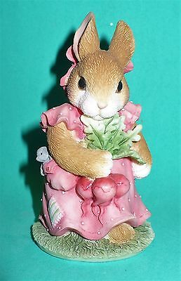 Vintage 1996 My Blushing Bunnies Enesco Friendship Harvest Vgc