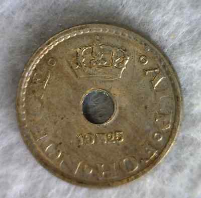 NORWAY 10 ORE 1925 ABOUT UNCIRCULATED COIN (stock# 0302)