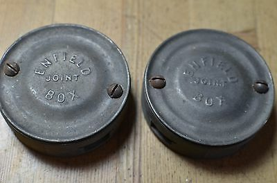 Vintage Pair Of Early Bcm/wylex Enfield Electrical Joint Boxes